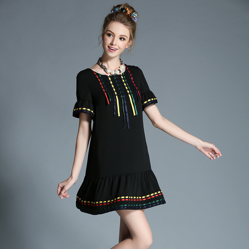 Compare Prices On Black Drop Waist Dress Online Shoppingbuy Low