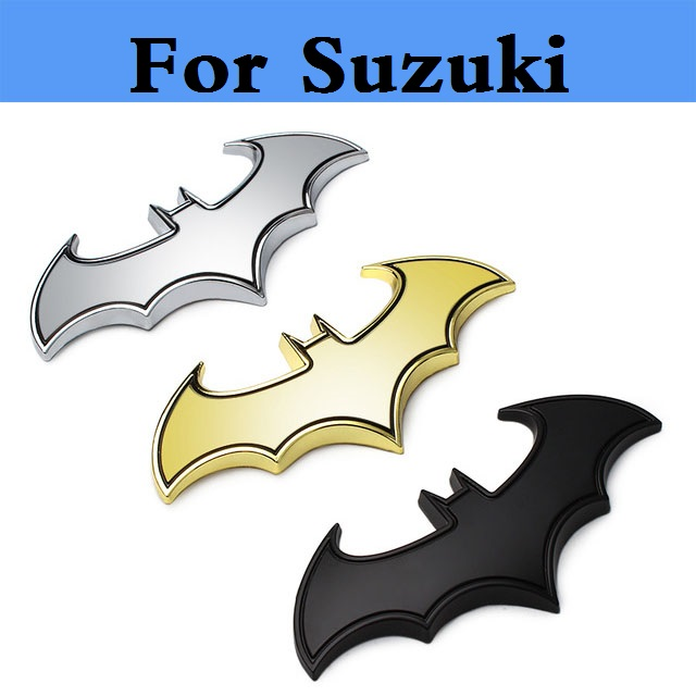 3D Metal Cool bat Car stickers batman badge emblem decal for Suzuki Aerio Baleno Celerio Cervo Escudo Forenza Grand Vitara