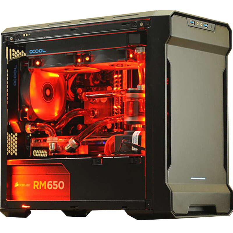 PHANTEKS 215PTG Mini-ITX RGB computer case (ITX motherboard / 280 water  cooled / long graphics / with silent 140mm fan)