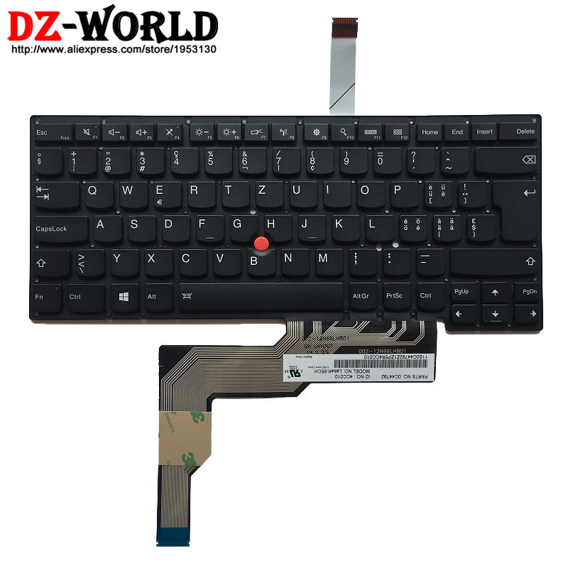 New Original Swiss Backlit Keyboard for IBM Lenovo Thinkpad S3 S431 S3 S440 Backlight Teclado Switzerland 0C44792 gzeele new us laptop keyboard for lenovo for ibm thinkpad edge e530 e530c e535 e545 04y0301 0c01700 v132020as3 without backlight