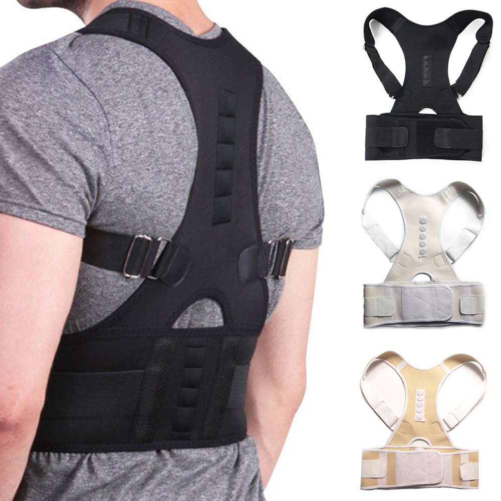 Male Female Adjustable Magnetic Posture Corrector Corset Back Brace Back Belt Lumbar Support Straight Corrector de