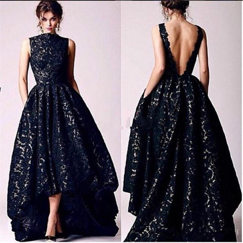Popular Long Black Lace Evening Dress-Buy Cheap Long Black Lace ...