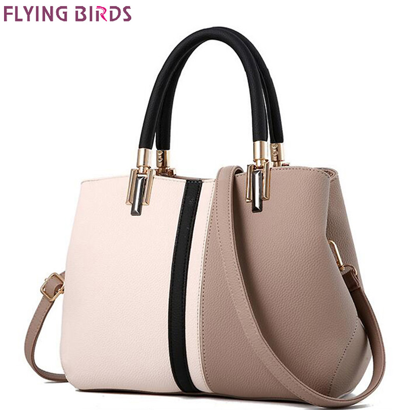 FLYING BIRDS brands Women Handbag Fashion leather handbags Shoulder Bag Small Casual Cross Body Bag Retro Totes new arrive vogue star 2017 new arrival knitting women handbag fashion weave shoulder bags small casual cross body messenger bag totes la451 page 5 href