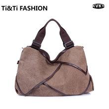 KVKY Hot Sale 4 Color Designer Style Large Capacity School Girl Bag Shoulder Bag Crossbody Women Messenger Bag Large Canvas Bag