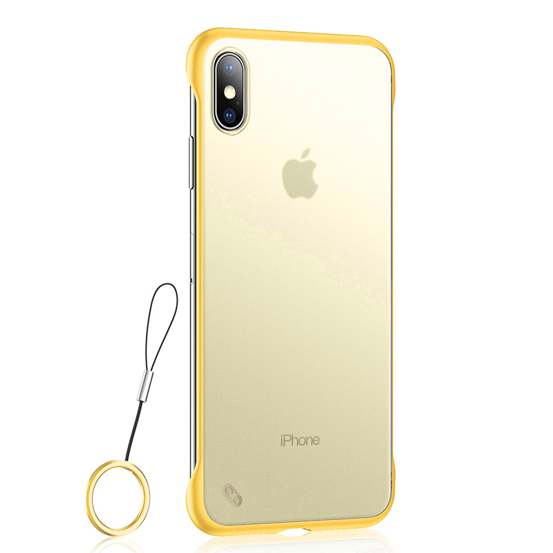Lovebay Phone Case For iPhone 11 6 6s 7 8 Plus X XR XS Max Luxury Frameless Ring Design Scrub Hard PC For iPhone 11Pro Max Cover