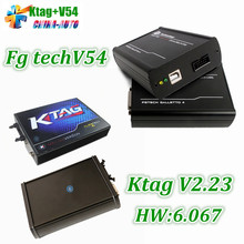DHL Бесплатная Доставка Новые V2.13 KTAG К TAG Прошивки V6.070 ECU Инструмент Программирования Без Лексем Ограничено + FG TECH Galletto 4 V54