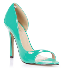 Candy Color Summer Peep Toe High Heels Sexy Thin Heel Women Pumps Open Toe Party Shoes High Heel Plus Size 35-43