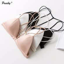 Sexy Crop Top Bra Womens Wireless Brassiere See Through Choker Bandage Intimates Camis Lingerie Sexy Bralette Transparent Bralet
