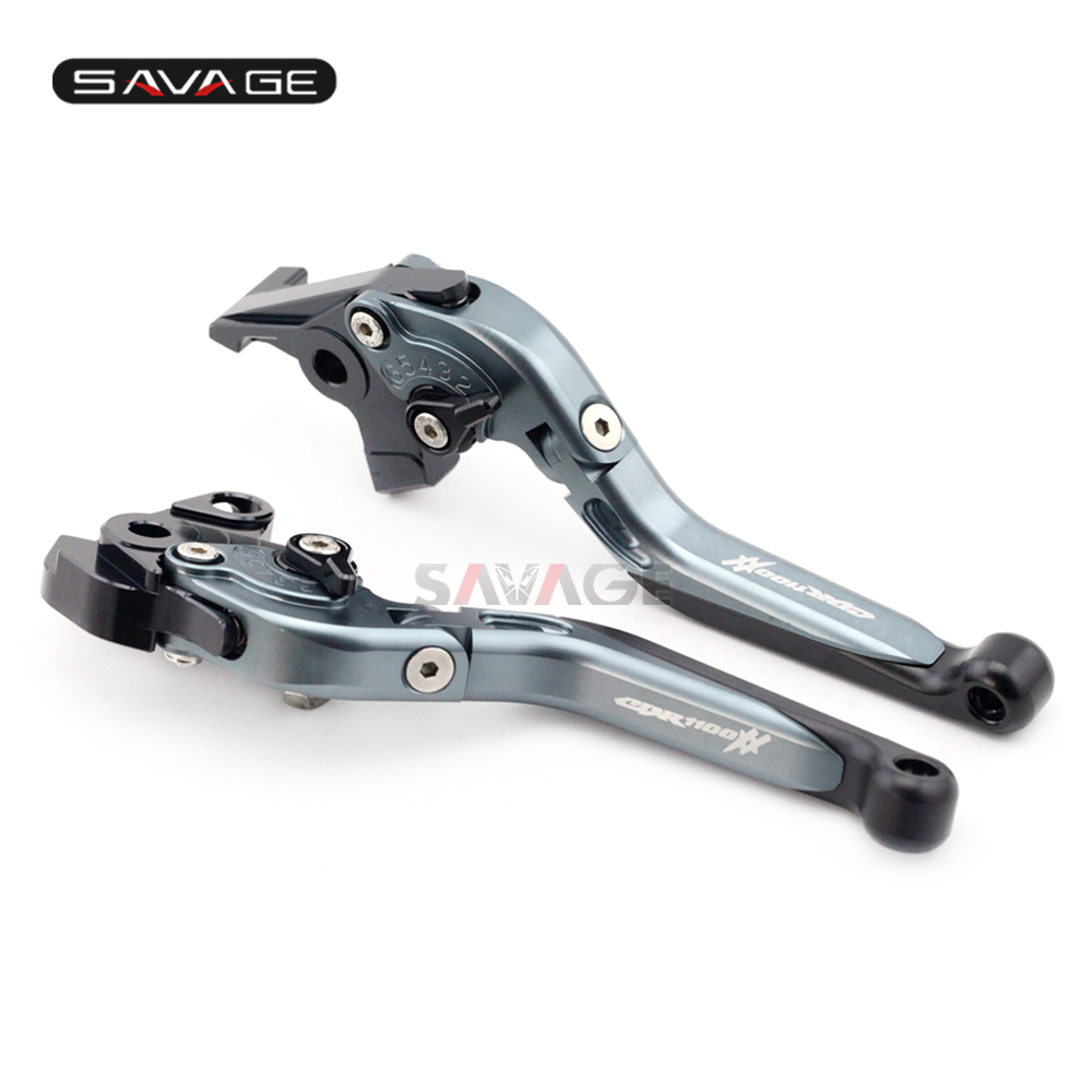 Brake Clutch Lever For HONDA CBR 1100XX 1997-2008 Titanium Motorcycle Accessories Adjustable Folding Extendable logo CBR1100XX