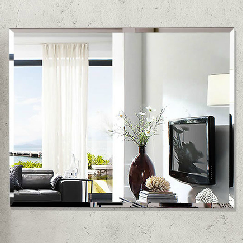 Aliexpress Buy Fashion Bathroom Ultra Clear Glass Mirror Square Wall Frameless 700900mm Beveled From Reliable