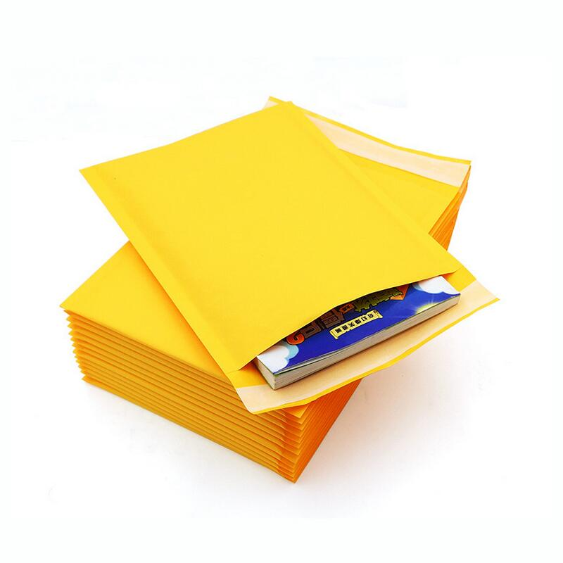 5pcs/lot 110x130mm Kraft Paper Bubble Mailers Padded Envelopes Packaging Shipping Bags Kraft Bubble Mailing Envelope Bags