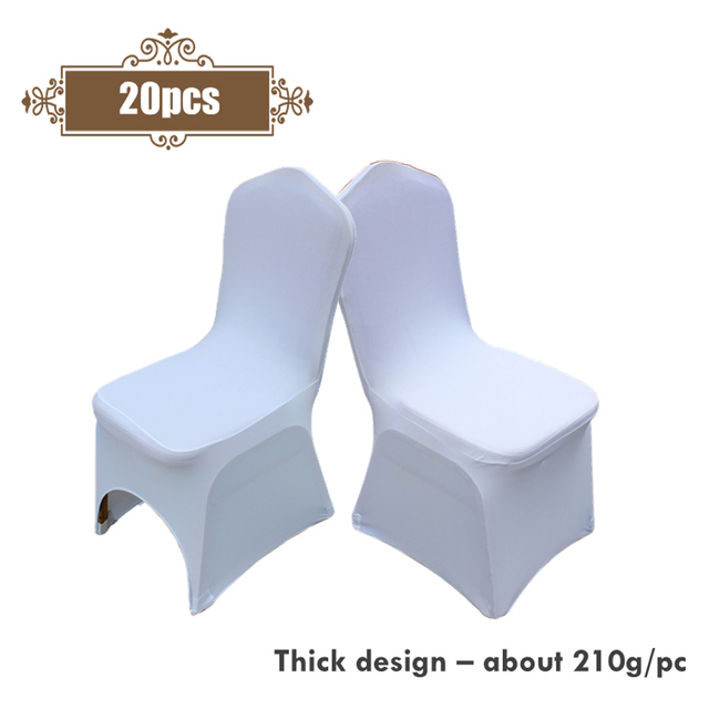 Phenomenal Us 31 61 30 Off Cheap 20Pcs Elastic Spandex White Hotel Banquet Chair Cover Universal Stretch Thick Chair Covers For Wedding Party Decoration In Pabps2019 Chair Design Images Pabps2019Com