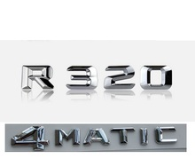 Chrome  R 320 4 MATIC Car Trunk Rear Letters Words Badge Emblem Letter Decal Sticker for Mercedes Benz Class R320 4MATIC