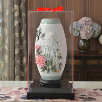Antique Ceramic Vase Chinese Home Decorative living room decoration porcelain handmade ornaments Wedding Gift Accessorie Crafts