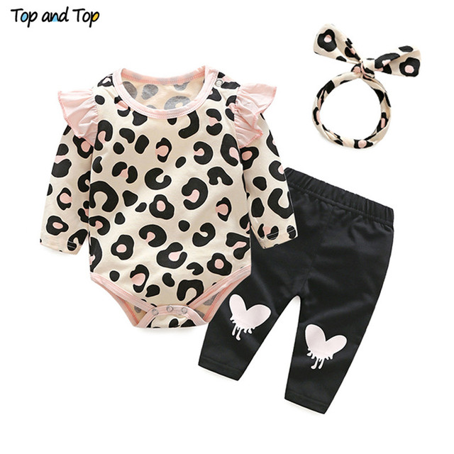 12a5d5698078 Top and Top Baby Girls Clothes Set 2018 Autumn Newborn Baby Girl ...