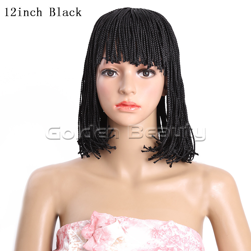 12-Black 210g #1 1B 2 Box braid wig (2)