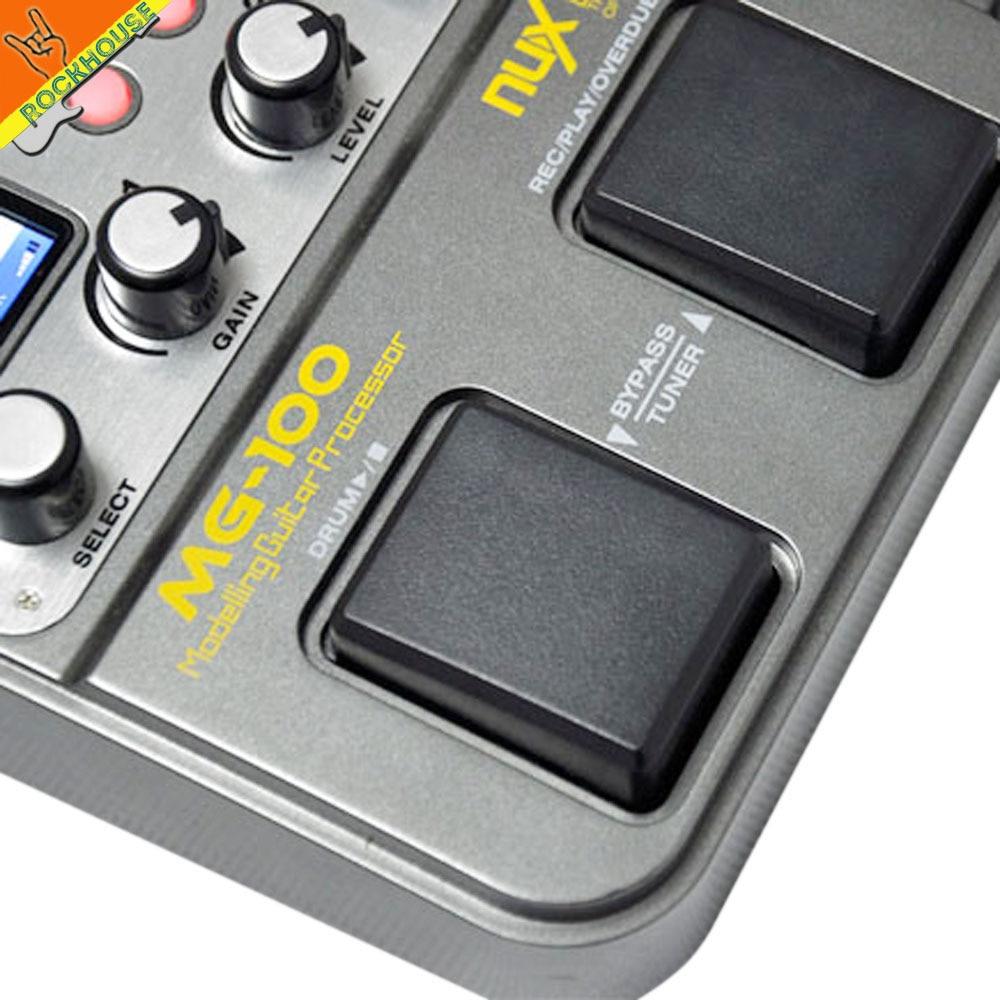 NUX MG-100 Gitaar Multi-effectprocessor Pedaal Gitaarra Modellering - Muziekinstrumenten - Foto 5