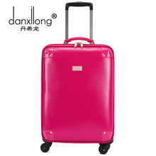 Danxilong Fashion Trolley High Quality Rolling Luggage On Wheels for Women and Men Vintage Suitcase 18