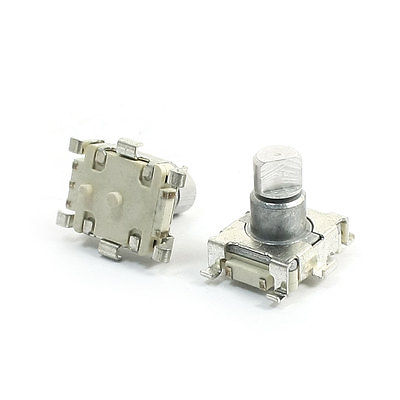 2Pcs 6mm Dia D Shaft SMD SMT Type Rotary Encoder + Push Button Switch half shaft 20 mm ec11 rotary encoder coding switch ec11 audio digital potentiometer with switch