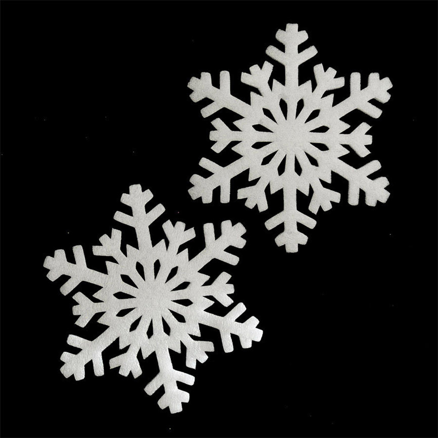 Wallpaper Sticker 2Pcs Merry Christmas Year Classic Snowflake Ornament Foam Wall Sticker Home 15cm Wallpapers For Living Room B#