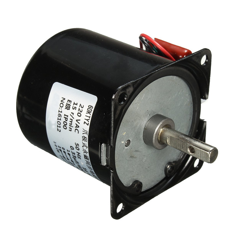 60KTYZ 220V 14W AC Synchronous Motor Permanent Magnetic Electric Gear 50Hz 15r/min цена