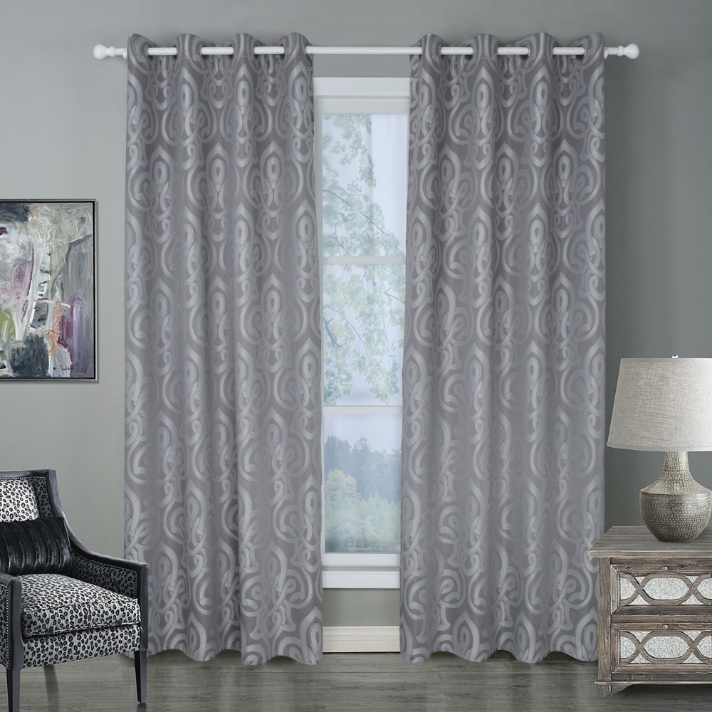 US $21.65 36% OFF|Floral Blackout Curtains for Living Room Bedroom Luxury  Black Out Curtains Thick Thermal Night Curtain Living Light Shading-in ...
