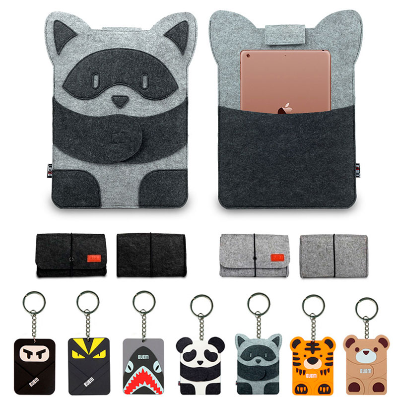 New Wool Felt Laptop Sleeve Bag for Macbook pro 13 case Air Retina 11 12 13.3 14 15 inch Cartoon Laptop Case for Touchbar 13 15