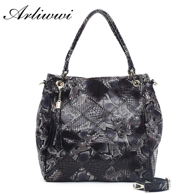 Multi Functional Classic Snake Pattern Ladies Tote 100% Genuine Leather Fashion Women's Real Cowhide Crossbody Bag Handbags