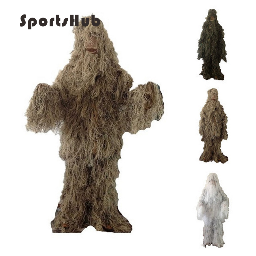 SPORTSHUB Military Camouflage Ghillie Suits Hunting Clothing Camouflage Shade Cloth TACTICAL GHILLIE Suit Hunting Cloth SAA0022 windproof realtree camouflage suits wild hunting clothing oem vision