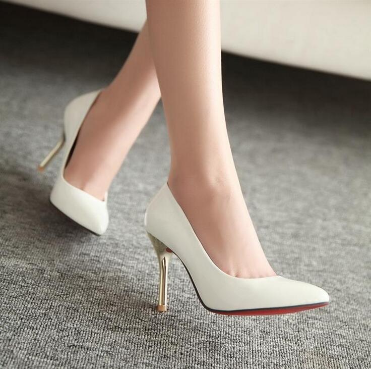 Red Bottom High Heels Pointed Toe Women Pumps Wedding
