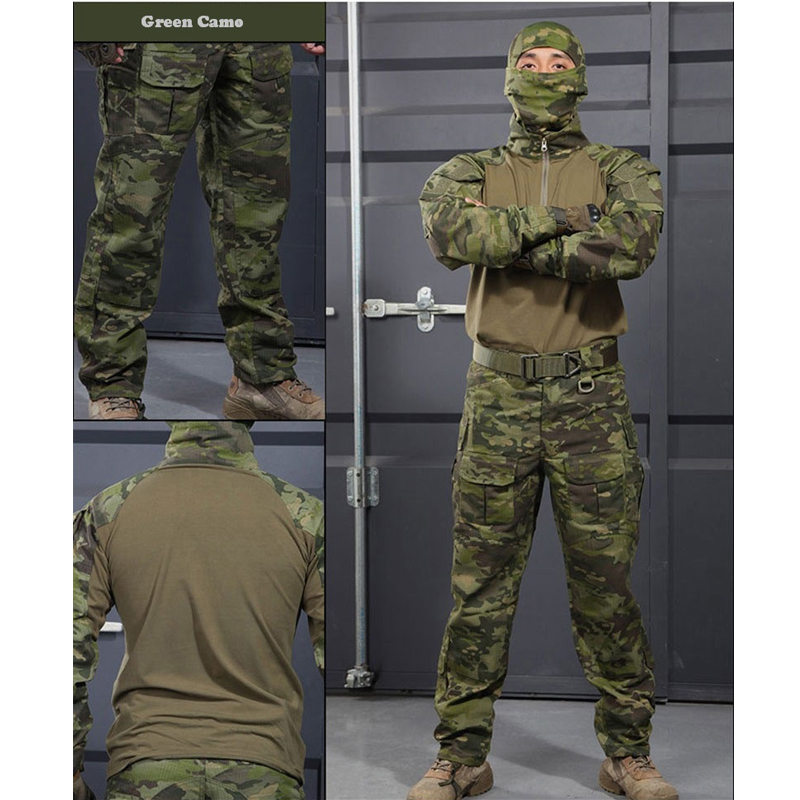 6 couleurs! Uniforme militaire tactique chemise + pantalon multicam uniforme Airsoft Paintball SWAT armée formation chasse Police costume - 2