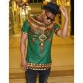 2016 Ropa Africana Y el Invierno de La Moda de Nueva Boda Vestido de Explosión De Europa África Estilo Folk Impresión Camiseta de La Camiseta Camisa