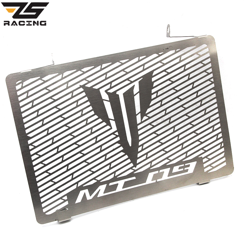 ZS Racing Silver Motorcycle Radiator Grille Guard Cover Protector Case For YAMAHA MT09 MT-09 FZ09 FZ-09 2013 2014 2015 2016 motorcycle accessories radiator grille guard cover protector for yamaha mt 09 mt09 mt 09 fz09 2013 2014 2015 xsr900 xsr 900 2016