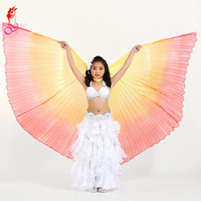 2017 Girls Belly Dance Wing Kids Props Performance Latin Dance Accessories Oriental Design 2styles 360 Degree Wing/opening Wing