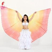 2017 Girls Belly Dance Wing Kids rekwizyty Performance Latin akcesoria taneczne orientalny Design 2style 360 stopni skrzydło/otwarcie skrzydła