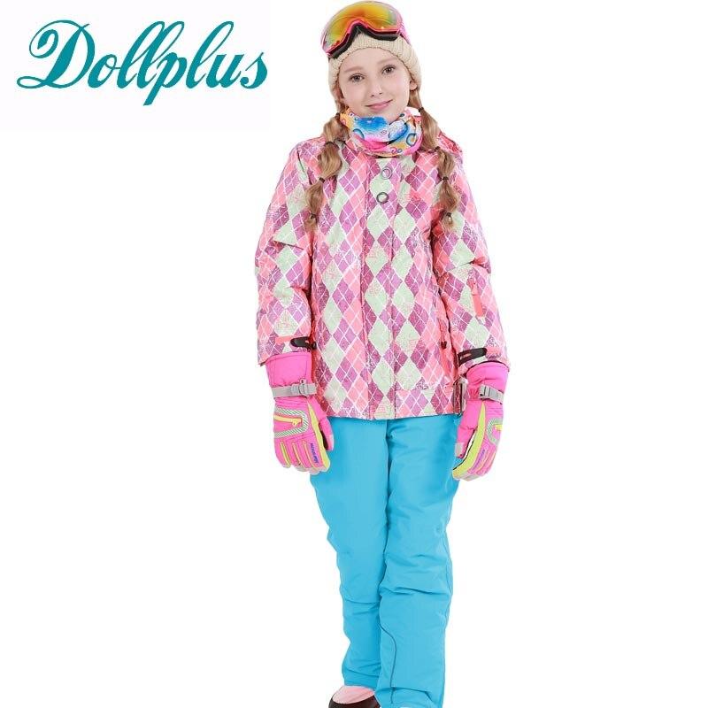 Children'S Ski Suit For Girls Windproof Waterproof Outdoor Sport Wear Girls Skiing Jacket+Pants Winter Ski Jacket Girls Warm Clo