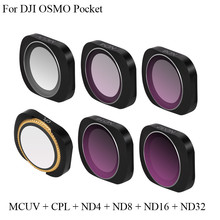 Aluminum Alloy Magnetic Adsorption MCUV CPL ND 8 4 16 32 64 Lens Filter Set For DJI OSMO Pocket Camera Stabilizer lvshi glass aluminum alloy cpl 52mm camera filter lens black