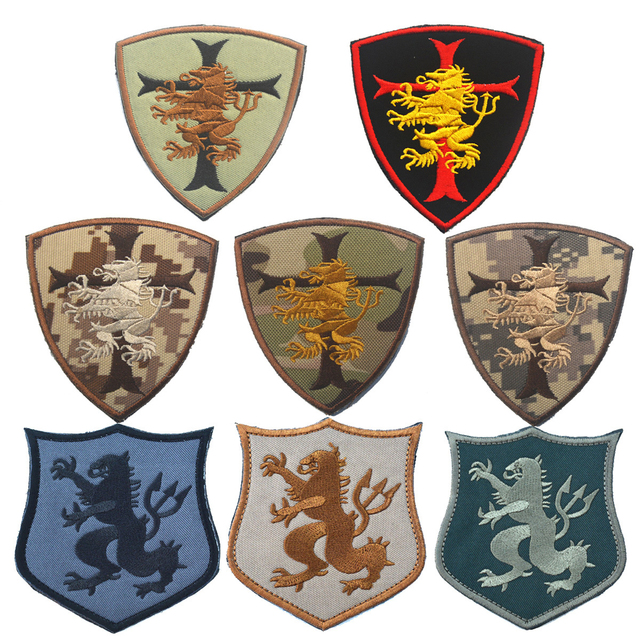 Navy Seal Team 6 Devgru Lion Cross Crusader Shield Tactical Patch 3D ARMY Hook Loop