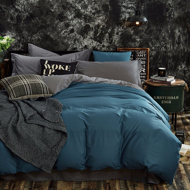 100% Cotton Black Red Color King, Queen, Twin, Size Bedding Set, Solid Color Duvet Cover Set, Bed sheet /Fitted Sheet, Pillowcases 23