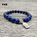 YNB LAPIS LAZULI Bracelet with Buddha Infused with Reiki Energy. Third Eye Bracelet. Throat Chakra. Contact Your Spirit Guides.