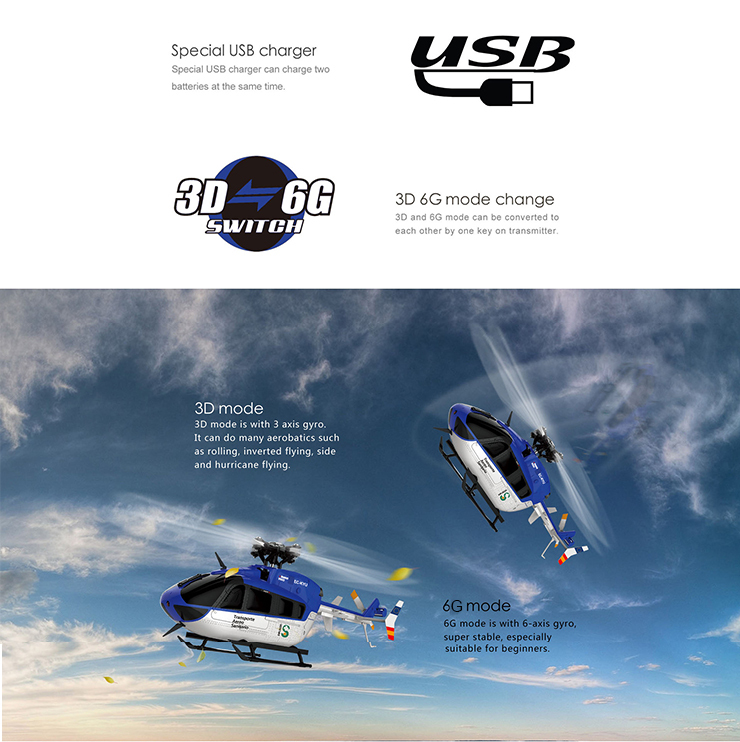 ต้นฉบับ XK K124 EC145 6CH Brushless มอเตอร์ 3D 6G RC เฮลิคอปเตอร์ RTF ใช้งานร่วมกับ FUTABA S FHSS-ใน เฮลิคอปเตอร์ RC จาก ของเล่นและงานอดิเรก บน   2