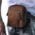 Genuine Leather Men's Waist Bag Travel Pack Belt Wallet Purses Phone Pouch+Men Handbag