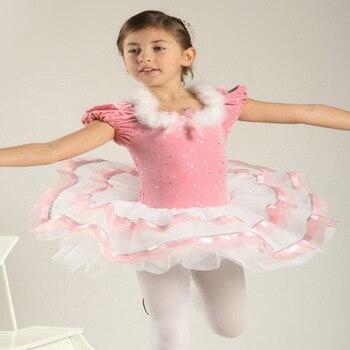 94755f65e3 Vestidos de Ballet para niñas niños las mujeres Ballet Tutu Niña de danza  contemporánea trajes rendimiento desgaste ropa de Ballet DN1047