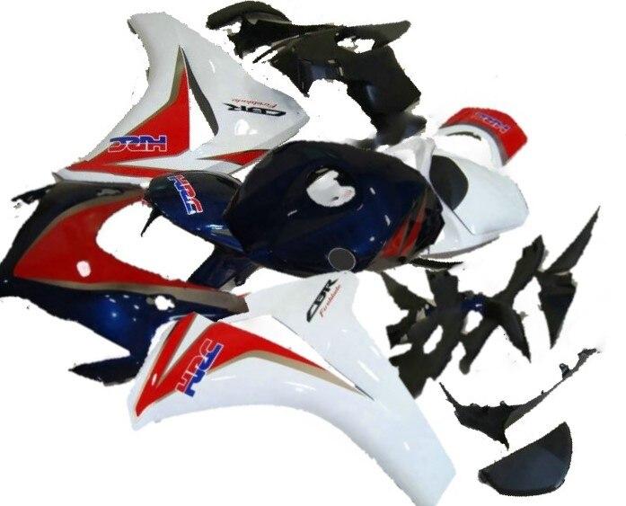 F Kits de carénage ABS pour CBR 1000 RR 2008 2009 2010 2011 CBR1000RR 08 09 10 11 carrosserie moto HRC rouge bleu blanc
