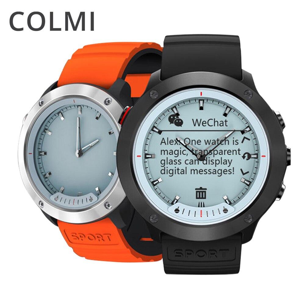 COLMI M5 pantalla transparente Smart Watch hombres IP68 impermeable Monitor Acero inoxidable reloj Smartwatch para IOS Android