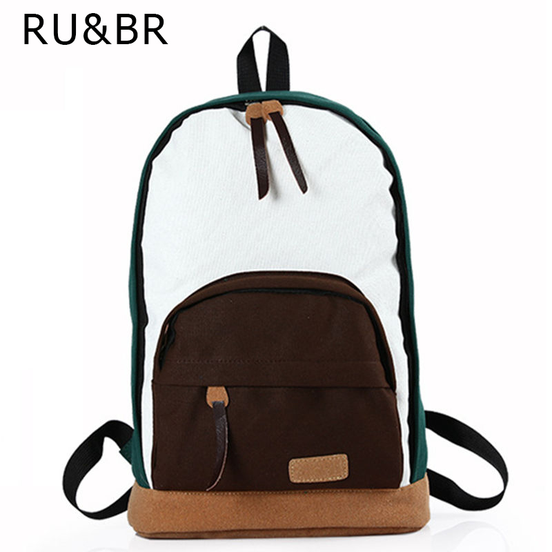 2015 Promotion Women's Panelled Canvas Backpacks Student School Bags For Boy Girl Teenagers Casual Rucksack Daybags
