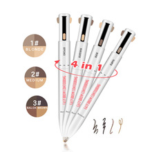 4 in 1 Tattoo Eyebrow Pencil Automatic Waterproof Eye Makeup Eyebrow Powder Cosmetic Beauty Tool Pencil