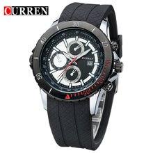 CURREN Nnew mode casual quartz montre hommes grand cadran étanche chronographe montre-bracelet livraison gratuite 8143