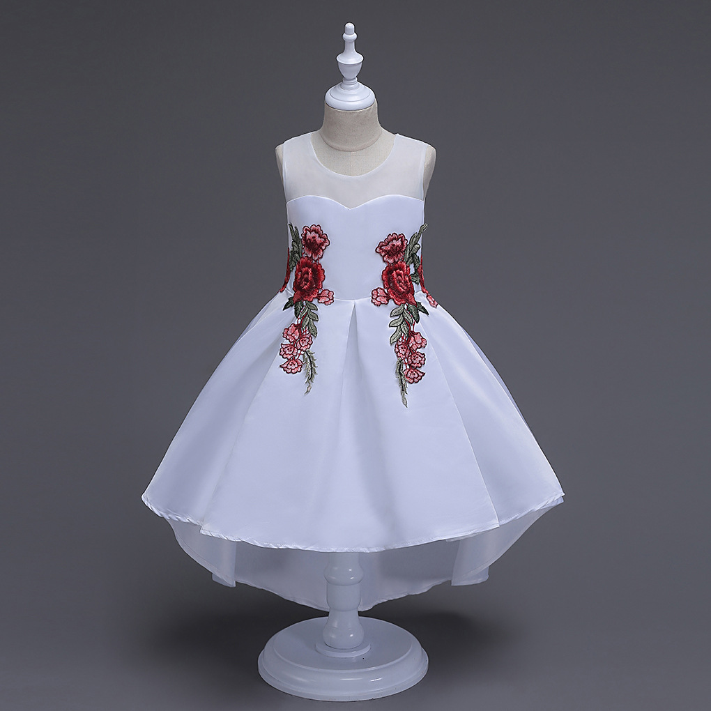 Party clothes for children 9 years Little Girls Evening Dresses Communion Gown Red Pink Formal Pageant  Summer Girl White Dress in stock layered pre teen party gowns little girls pageant dress pink color
