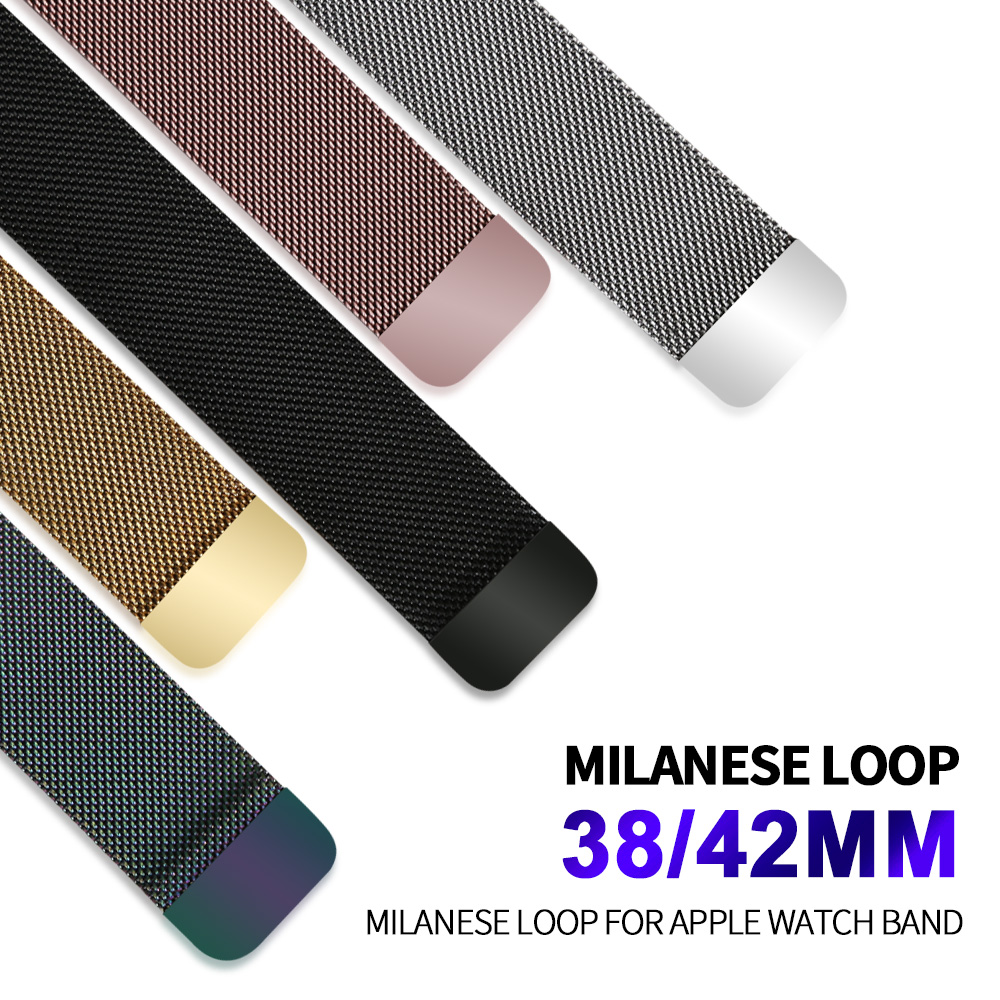 Milanese Loop For Apple Watch band strap 42mm/38mm Stainless Steel Link Bracelet watchband magnetic buckle for iwatch 3/2/1